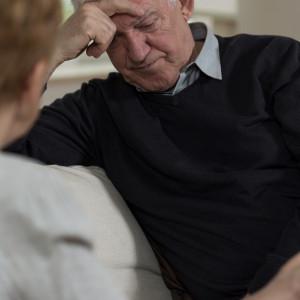 Resigned Elder Man